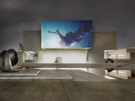 """Urban Video Project (UVP) Everson installation view of """"Western Union: Small Boats (The Leopard)"""" by Isaac Julien, showing at UVP Sept. 11 - Oct. 25, 2014.   Isaac Julien"""