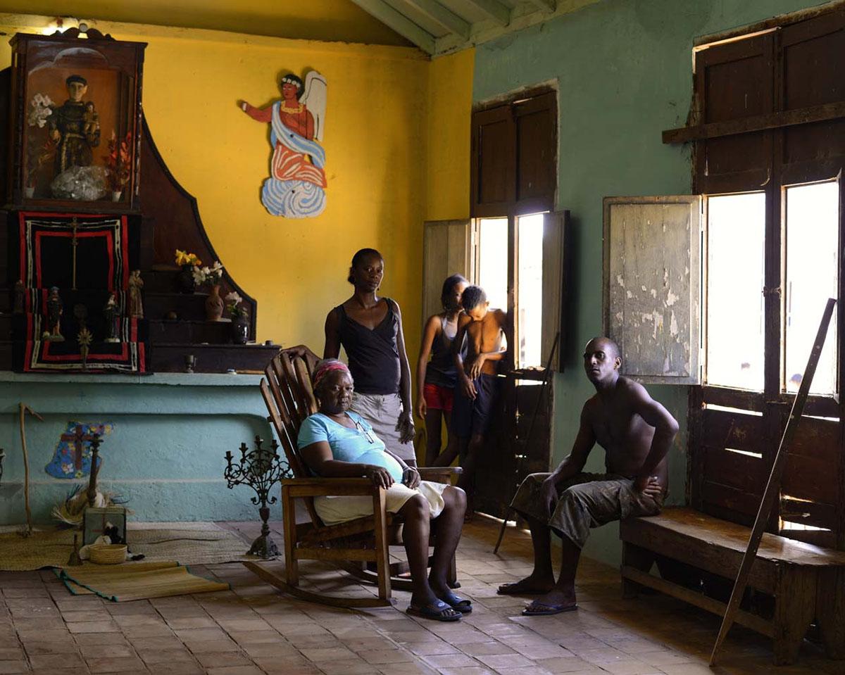 Mercedes Lugones Marin, currently head of the Cabildo de Los Congos Reales de San Antonio, founded in Trinidad in 1856. Trinidad