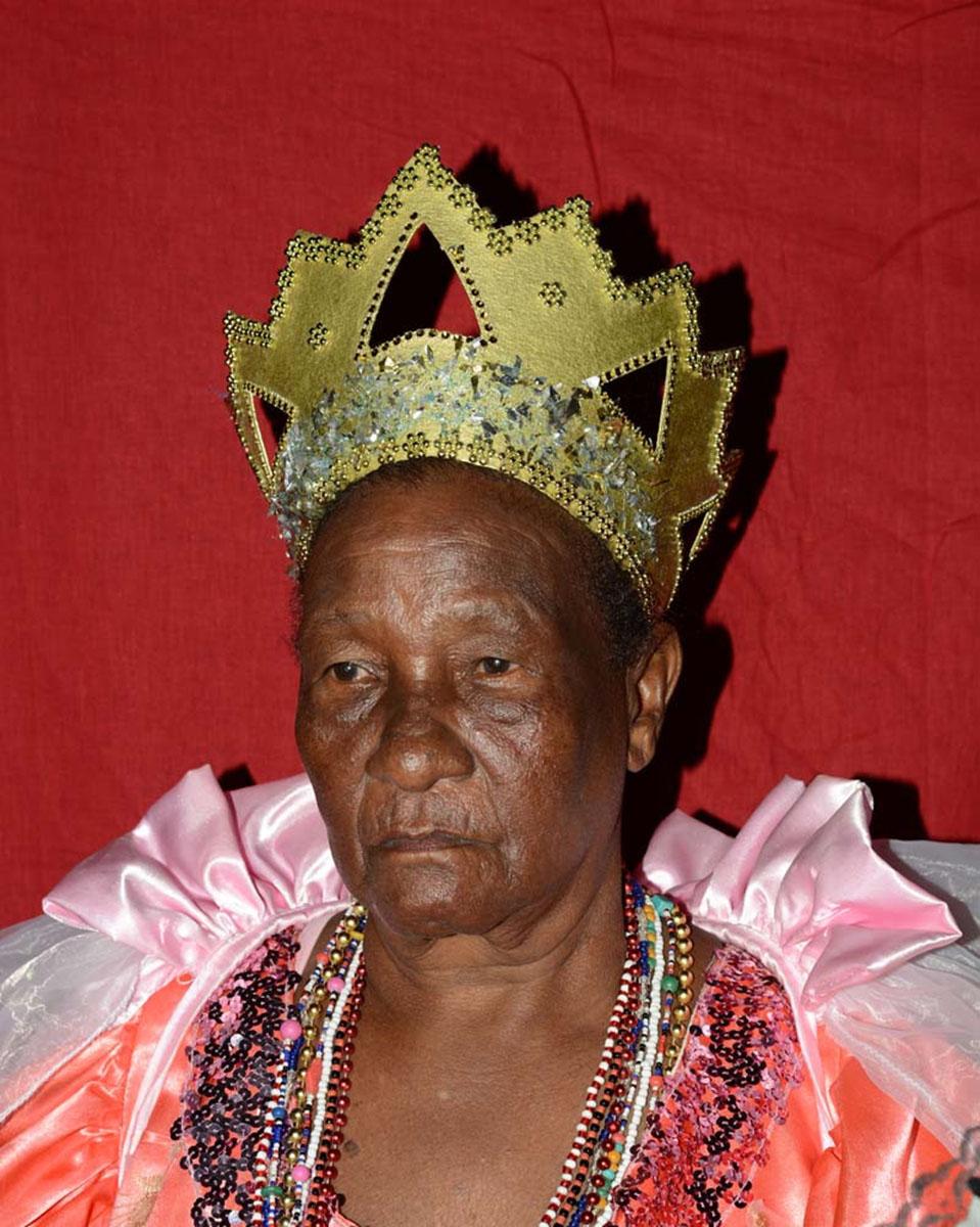 Yrene Vechy, queen of the Cabildo Cocoye, a carnival group (comparsa carabali), Santiago.